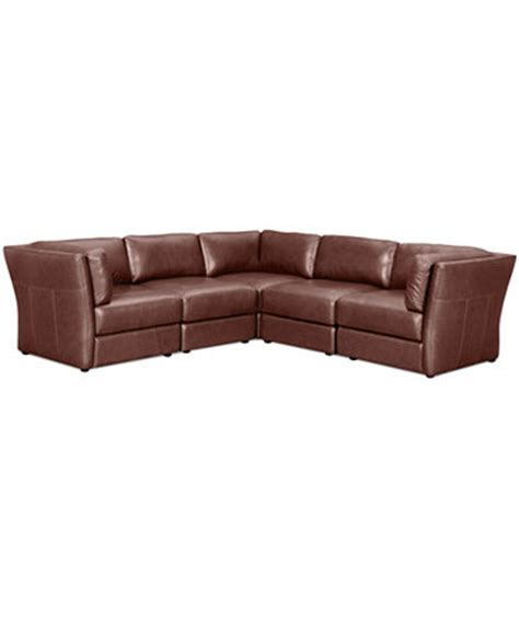 Square Sectional Sofa Ramiro Leather Modular Sectional Sofa 5 3 Square Corner Units And 2 Armless Chairs 109