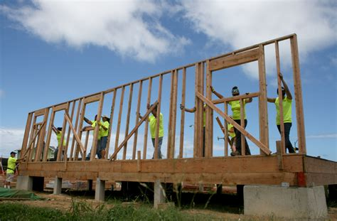 build an a frame department of hawaiian home lands dhhl joins habitat for
