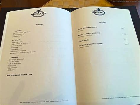 aidaprima casa speisekarte aida buffalo steakhouse preise speisekarte und mehr