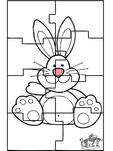 coloring puzzles easter bunny puzzle 3 crafts eastern