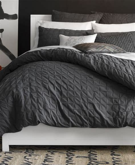 bar iii comforter bar iii box pleat carbon collection bedding collections