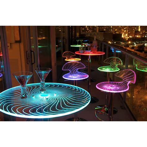 dining table led lights this spyra led light up bar table features a colorful