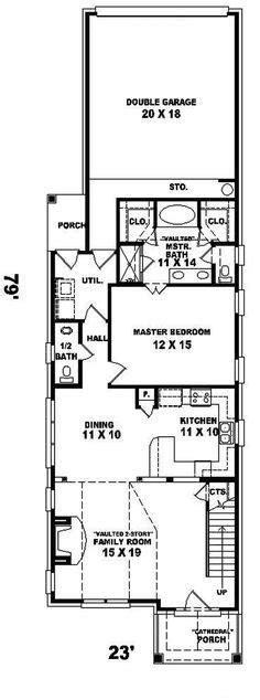 narrow lot floor plans 1000 ideas about narrow house plans on small house plans house plans and narrow house