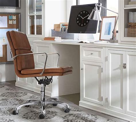 leather swivel desk chair nash leather swivel desk chair pottery barn