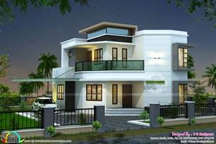 homes designs 1838 sq ft modern house kerala home design and floor plans