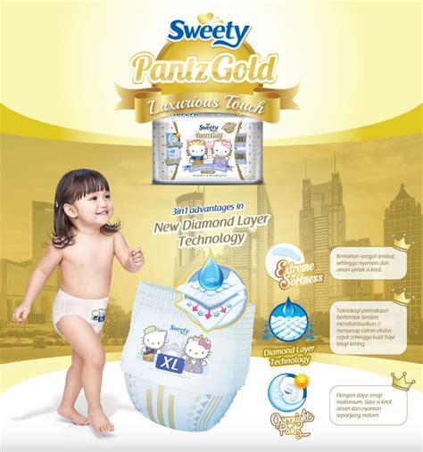 Sweety Gold L 54 Free 8 jual murah sweety popok bayi pantz royal gold l 54 new