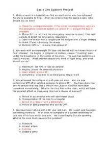 bls pretest all questions answers cardiopulmonary