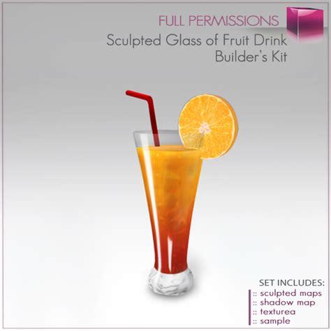 fruit juice perms second life marketplace sculpted glass of fruit juice