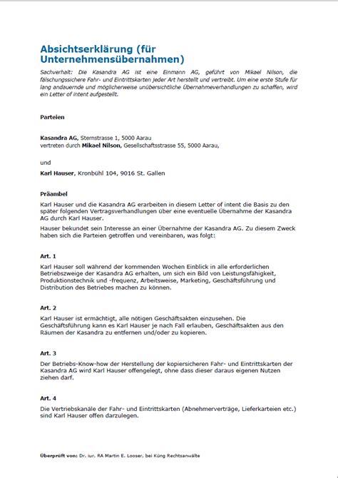 Angebot Vorlage Werkvertrag Muster Absichtserkl 228 Rung Weka Ch