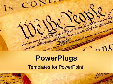 Powerpoint Template The United States Of American Constitution History Of Founding Fathers History Ppt Templates