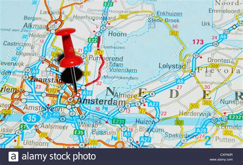 where is amsterdam on the map amsterdam on the netherlands map stock photo royalty free