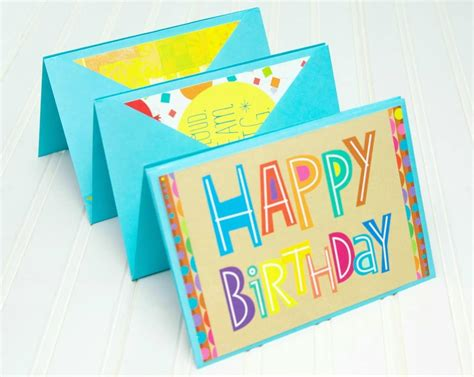 Birthday Gift Cards - birthday card accordion gift idea