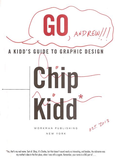 go a kidd s guide to graphic design chip kidd go a kidd s guide to graphic design