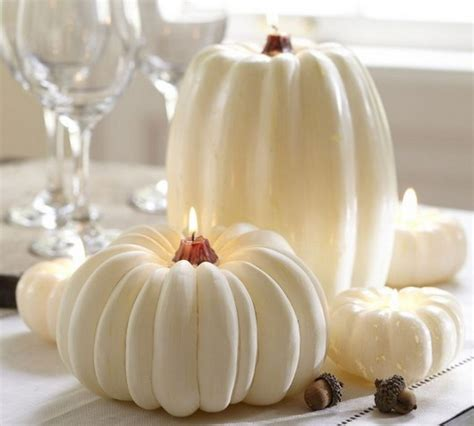 thanksgiving fall autumn white pumpkin centerpiece and decorating ideas family holiday net