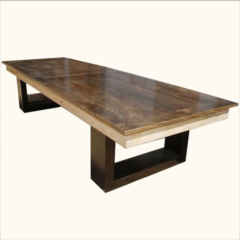 double pedestal dining room tables mango wood double pedestal dining table for 6 people
