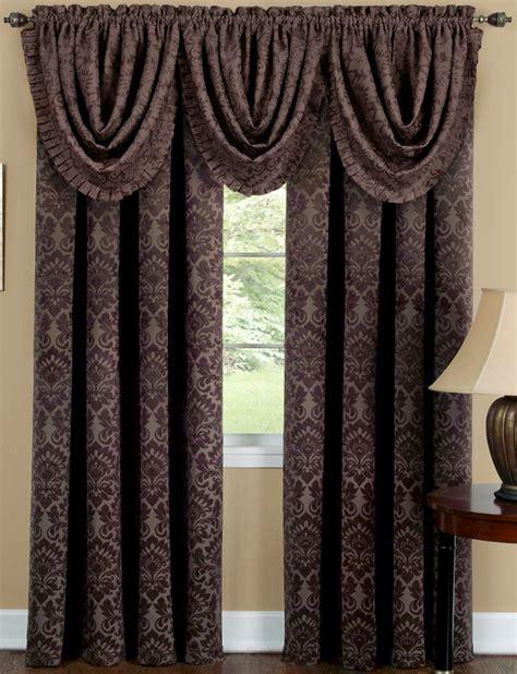 Sutton Curtain Panel Brown Achim Lined Curtains