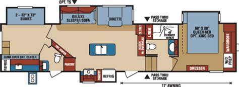 durango 5th wheel floor plans durango 2500 full profile fifth wheel floorplans photos