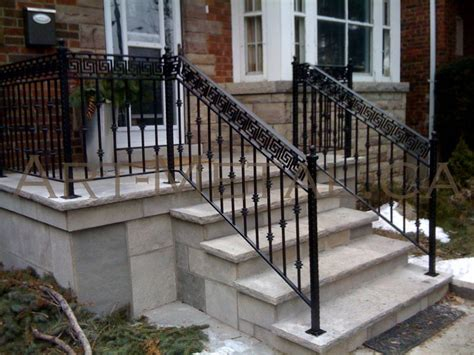 Wrought Iron Handrails For Exterior Stairs Image Gallery Exterior Railings