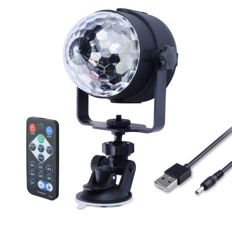 remote activated strobe light wowtou remote mini disco ball lights 3 mode sound