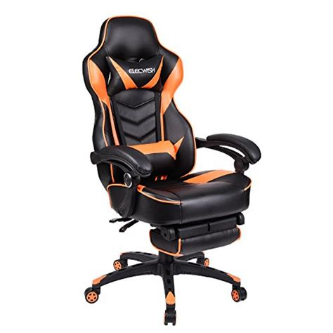 gaming chair with wheels office racing gaming chair pu leather high back