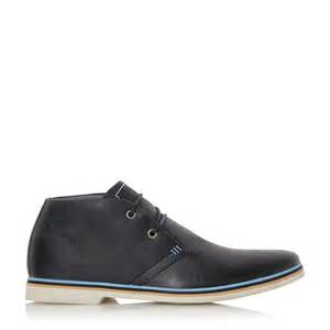 dune comet colour pop leather chukka boots in blue lyst
