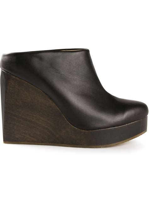 wedge clogs for sydney brown wedge clogs in black lyst