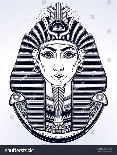 design your t shirt egypt handdrawn vintage illustration ancient egyptian pharaohs
