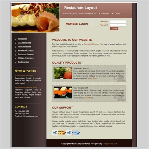 Template 043 Restaurant Restaurant Template