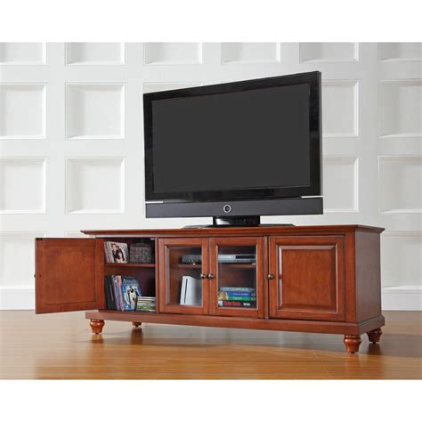 Meja Tv 29 Inch crosley cambridge cherry entertainment center kf10005dch