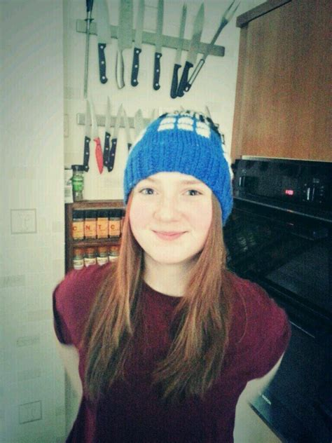 actress amy wheaton the actress who played young amy got a tardis beanie