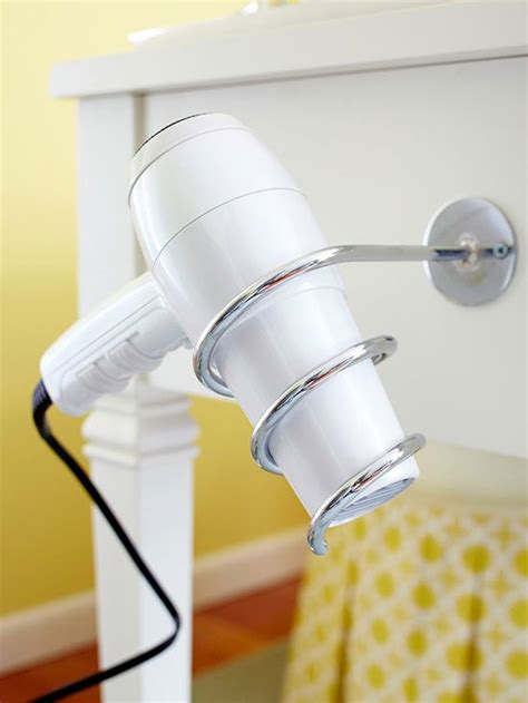 how to hang hair dryer in bathroom 17 best ideas about hair dryer organizer on pinterest
