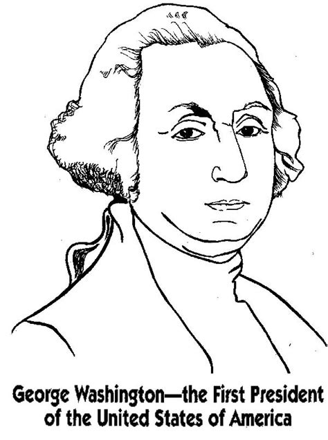 coloring pages of united states presidents george washington the first president of the united states