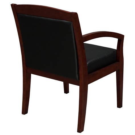 Industries Chairs by Industries Used Wood Side Chair Black Leather