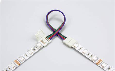 Konektor Conector Led 5050 Rgb 10 Mm rgb led koppelstuk met 2 zijdig draad 10mm