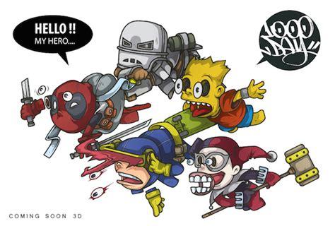 imágenes de wolverine en caricatura caricaturas de superh 233 roes por jang suk woo frogx three