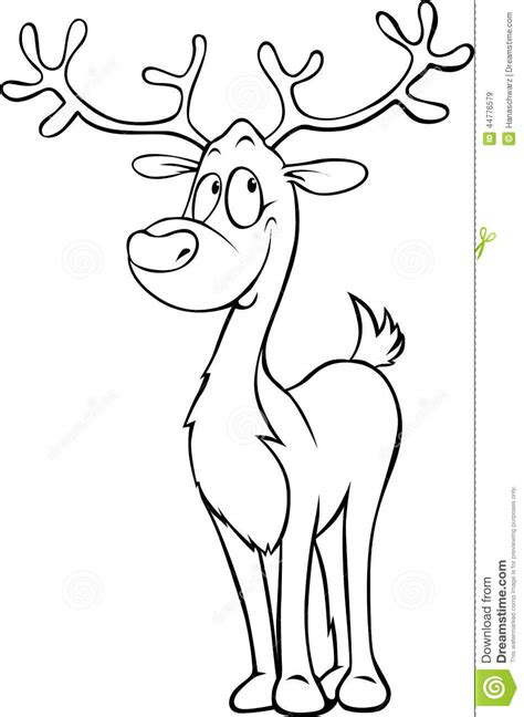 clipart divertenti renna divertente illustrazione nera profilo