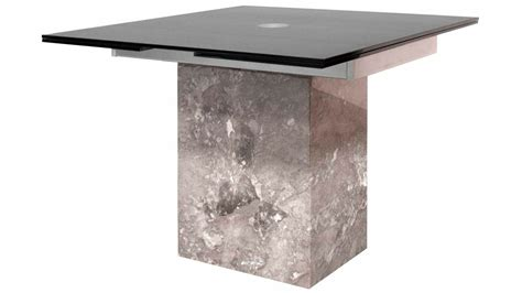 Marble Base Dining Table Modern Citadel Extension Dining Table Grey Marble Base 12mm Acid Etched Matte Black Glass Top