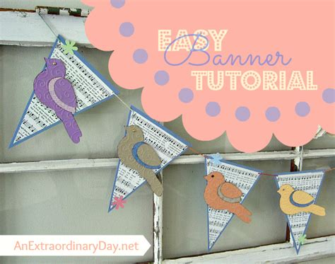 paper pennant banner a tutorial an extraordinary day