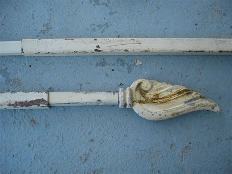 antique swing arm curtain rods vintage swing arm curtain rods with wing finales
