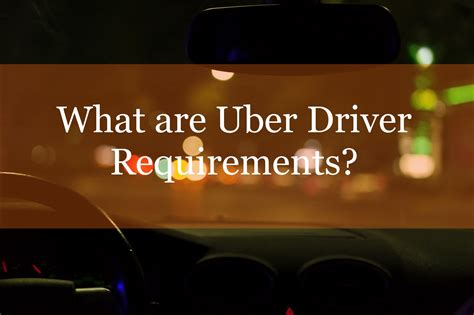 Uber Driver Background Check Requirements Uber Driver Requirements Ridesharedashboard