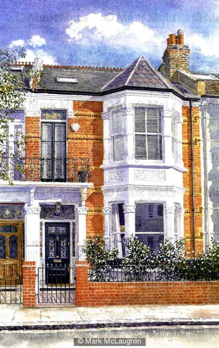 house portraits house portrait sw6 watercolour