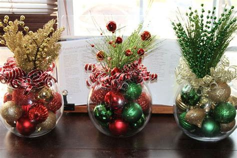 christmas centerpiece set of five christmas centerpieces