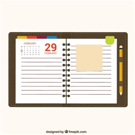 Calendar Notebook Papel De Libreta De Calendario Descargar Vectores Gratis