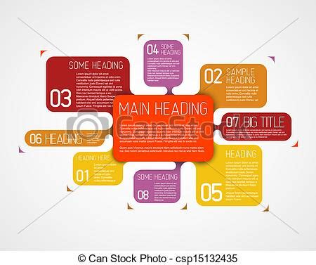 graphic diagram vectors of vector diagram template with various