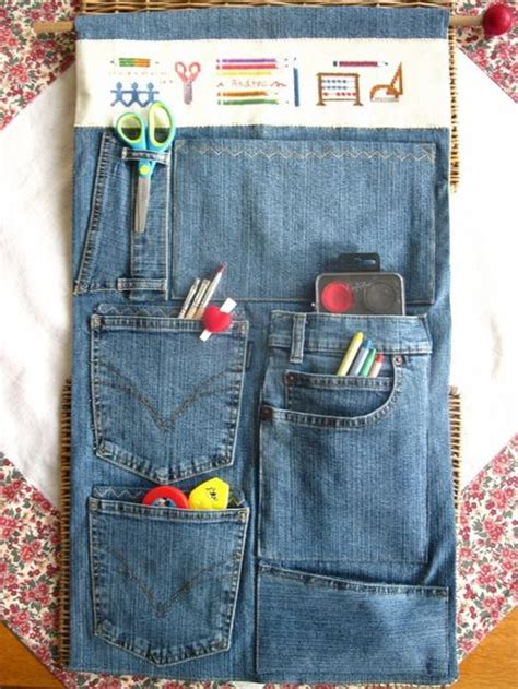 craft ideas  recycle jeans  functional furniture