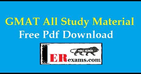 gmat  study material    erexams