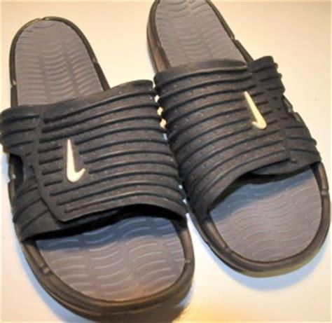 nike size 13 m mens slides swoosh sandals black shower