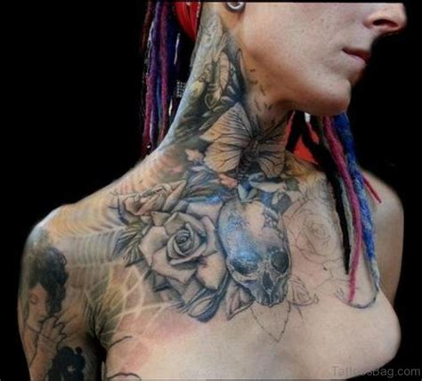 front neck tattoos 56 enchanting black and gray neck tattoos
