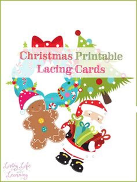 Free Printable Christmas Lacing Cards L