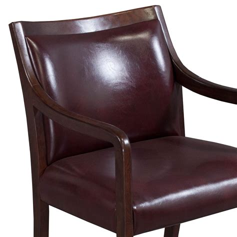 Burgundy Chair by Stout Used Walnut Leather Side Chair Burgundy National